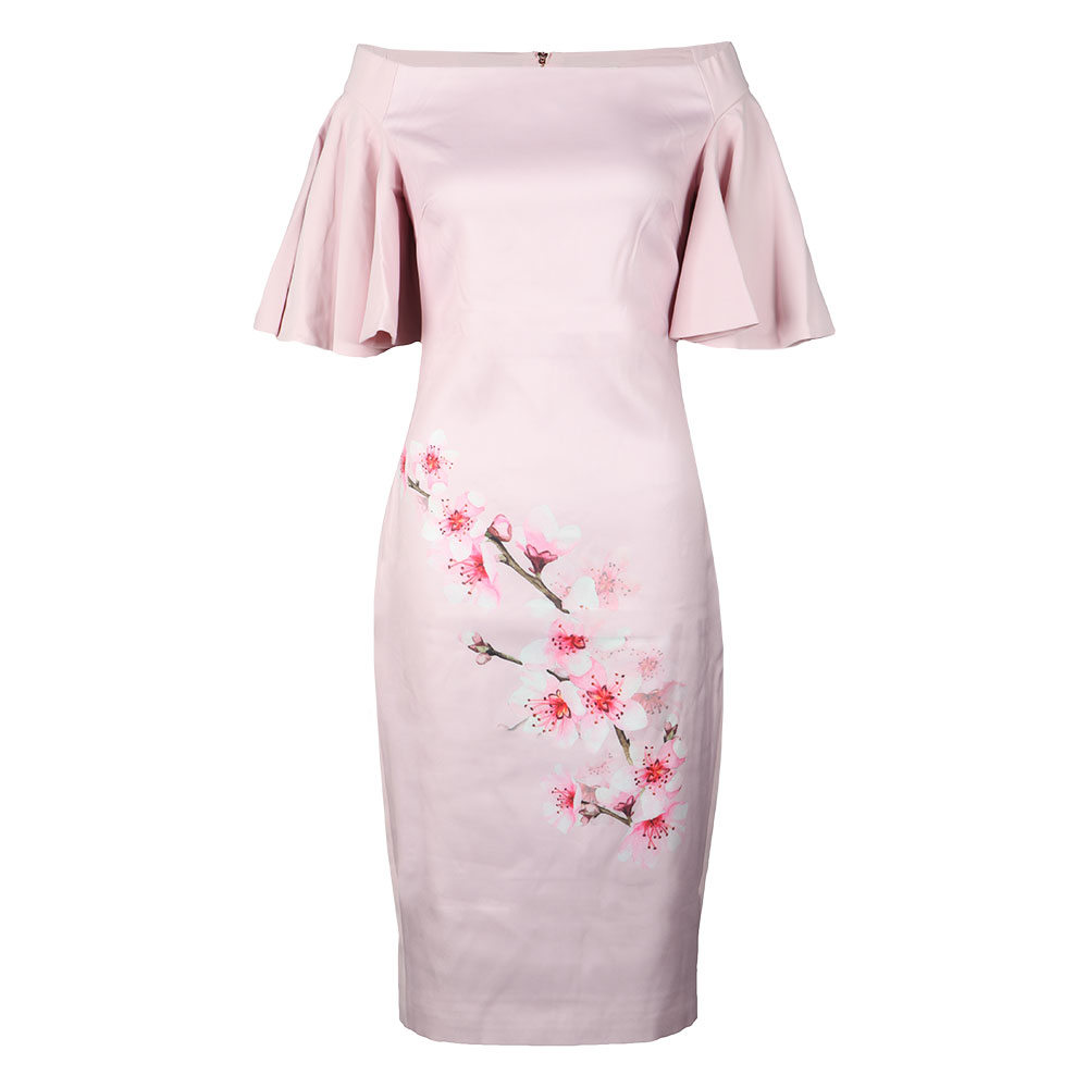 Calinda Soft Blossom Bardot Dress main image