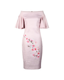 Ted Baker Womens Pink Calinda Soft Blossom Bardot Dress