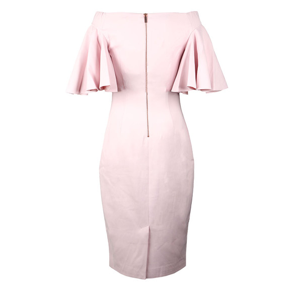 Ted Baker Womens Pink Calinda Soft Blossom Bardot Dress main image