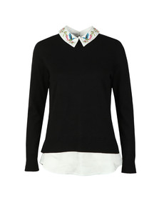 Ted Baker Womens Black Kentro Highgrove Mockable Jumper