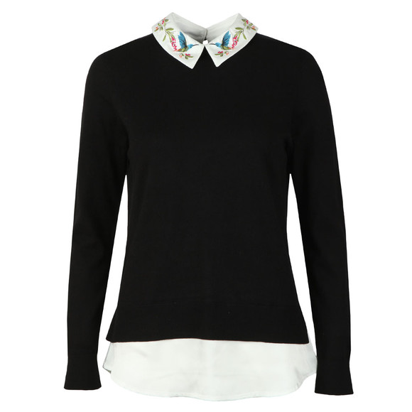 Ted Baker Womens Black Kentro Highgrove Mockable Jumper main image