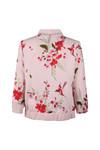 Ted Baker Womens Pink Leelah Bird and Blossom Spring Bomber Jacket