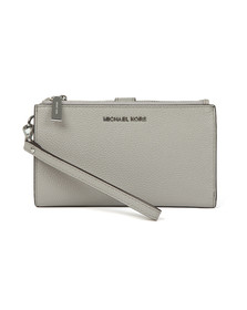 Michael Kors Womens Grey Double Zip Wristlet