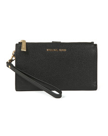 Michael Kors Womens Black Double Zip Wristlet