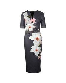 Ted Baker Womens Grey Bisslee Chatsworth Bodycon Dress