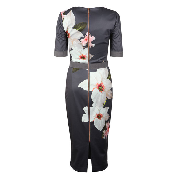 Ted Baker Womens Grey Bisslee Chatsworth Bodycon Dress main image
