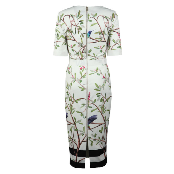 Ted Baker Womens White Evrely Highgrove Sleeve Bodycon main image