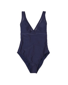 Ted Baker Womens Blue Rubee Mesh Panelled Swimsuit