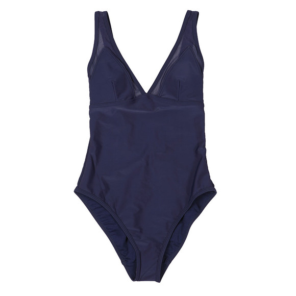 Ted Baker Womens Blue Rubee Mesh Panelled Swimsuit main image
