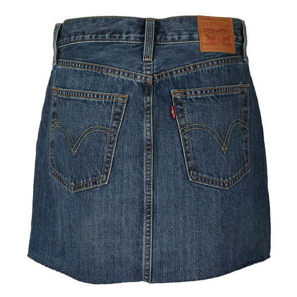 Levi's Womens Blue Deconstructed Skirt main image