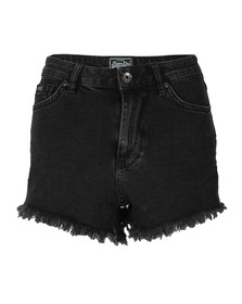 Superdry Womens Black Eliza Cut Off Short
