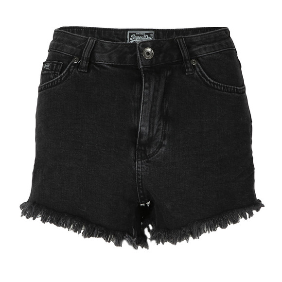 Superdry Womens Black Eliza Cut Off Short main image