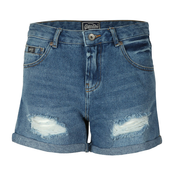 Superdry Womens Blue Steph Boyfriend Short main image