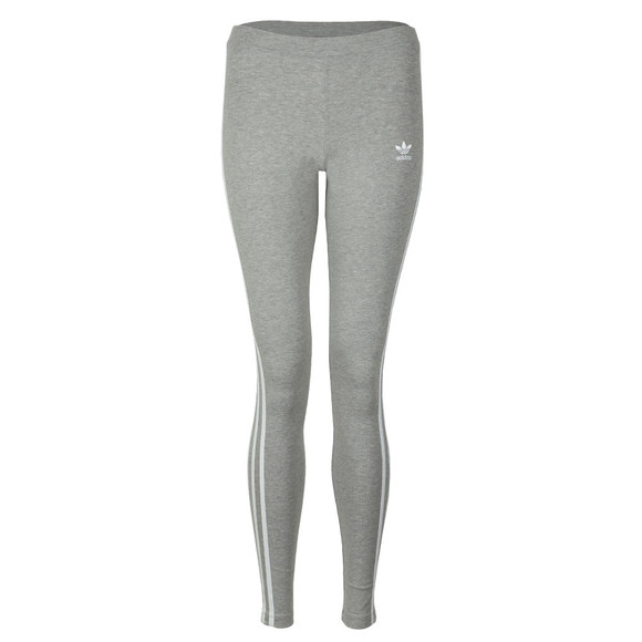 adidas Originals Womens Grey 3 Stripe Leggings main image