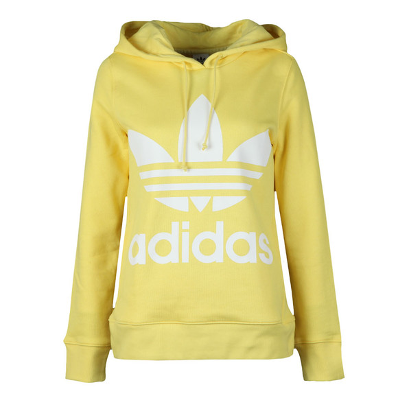 Adidas Originals Womens Yellow Trefoil Logo Hoody main image