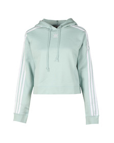 Adidas Originals Womens Green Cropped Hoody