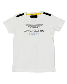 Hackett Boys White Boys AMR Shoulder T Shirt