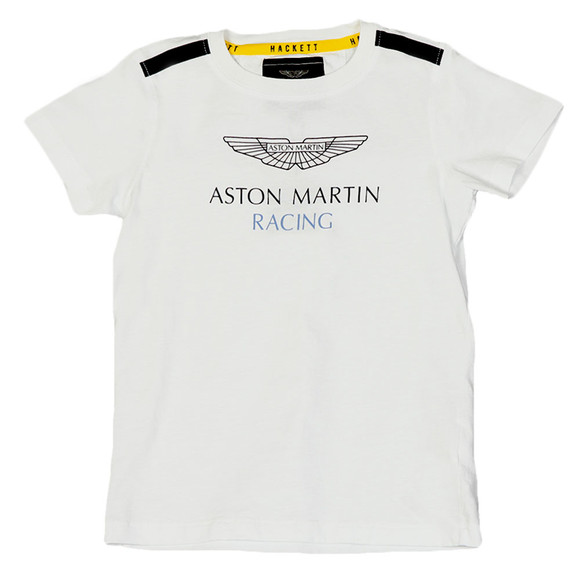 Hackett Boys White Boys AMR Shoulder T Shirt main image