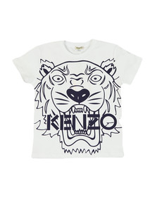 Kenzo Kids Boys White Boys Large Tiger Printed T Shirt