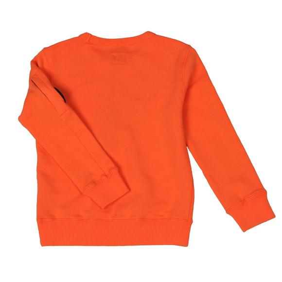 C.P. Company Undersixteen Boys Orange Logo Viewfinder Sleeve Fleece Sweatshirt main image