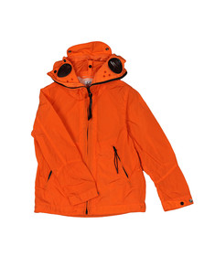 CP Company Undersixteen Boys Orange Chrome Split Goggle Jacket