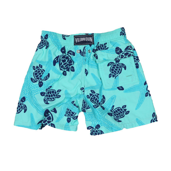 Vilebrequin Boys Blue Stralette & Turtle Swim Short main image