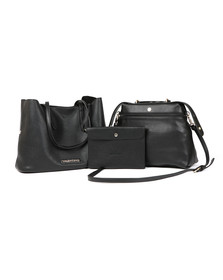 Valentino by Mario Womens Black Berth Tote Bag