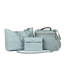 Valentino by Mario Womens Blue Berth Tote Bag