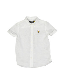 Lyle And Scott Junior Boys White Fleck Shirt