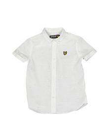 Lyle And Scott Junior Boys White Fleck Shirt