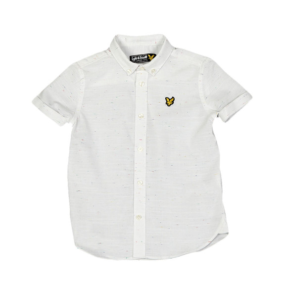 Lyle And Scott Junior Boys White Fleck Shirt main image