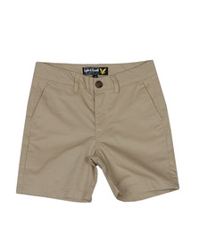 Lyle And Scott Junior Boys Beige Classic Chino Short