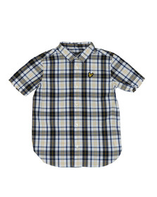 Lyle And Scott Junior Boys White Fashion Check Shirt