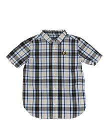 Lyle And Scott Junior Boys White Fashion Check Shirt