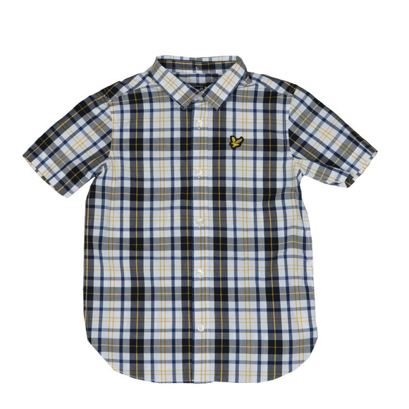 Lyle And Scott Junior Boys White Fashion Check Shirt main image