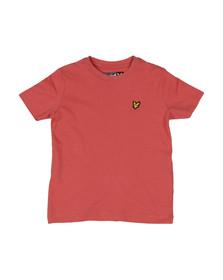 Lyle And Scott Junior Boys Sunset Pink Plain Crew T Shirt