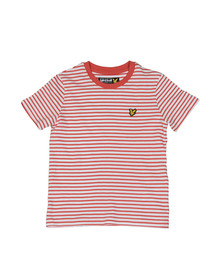 Lyle And Scott Junior Boys Red Boys Stripe T Shirt