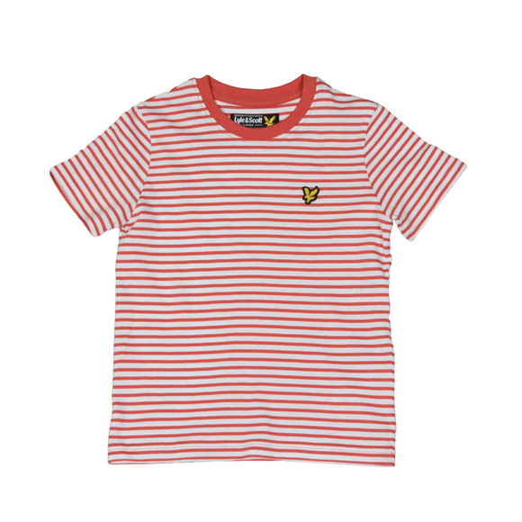 Lyle And Scott Junior Boys Red Boys Stripe T Shirt main image