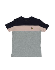 Lyle And Scott Junior Boys Grey Boys Cut & Sew T Shirt