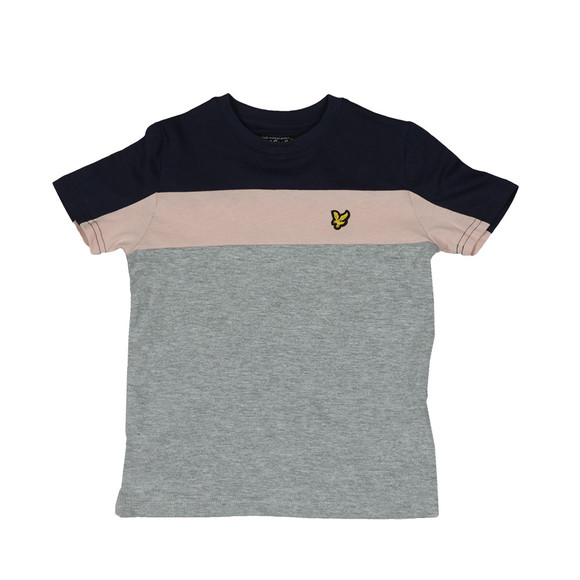 Lyle And Scott Junior Boys Grey Boys Cut & Sew T Shirt main image