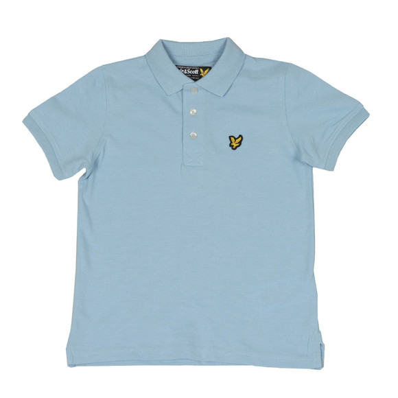 Lyle And Scott Junior Boys Blue Classic Marl Polo Shirt main image
