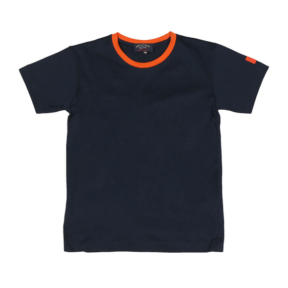 Paul & Shark Cadets Boys Blue Ringer T Shirt