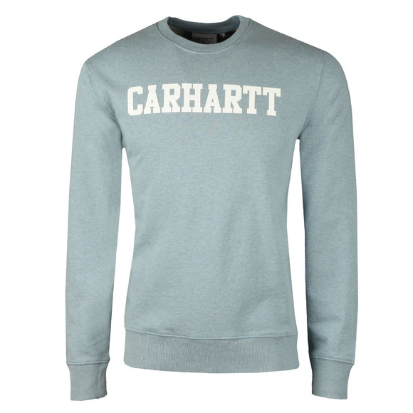 Carhartt Mens Blue College Crew Sweat main image