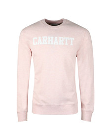 Carhartt Mens Pink College Crew Sweat