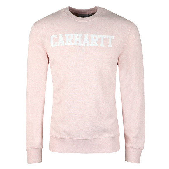 Carhartt Mens Pink College Crew Sweat main image