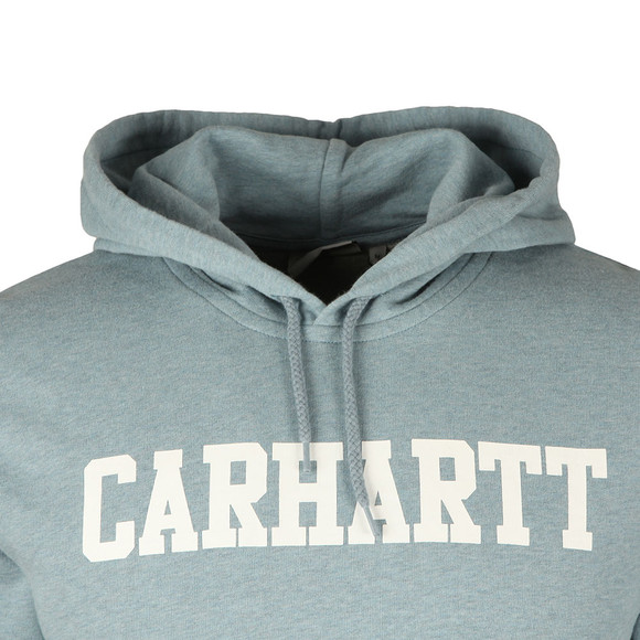 Carhartt Mens Blue College Hooded Sweat main image