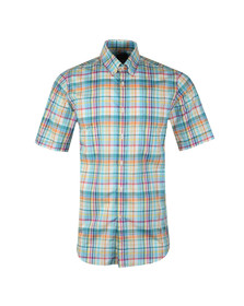 Paul & Shark Mens Multicoloured Madras Check Short Sleeve Shirt
