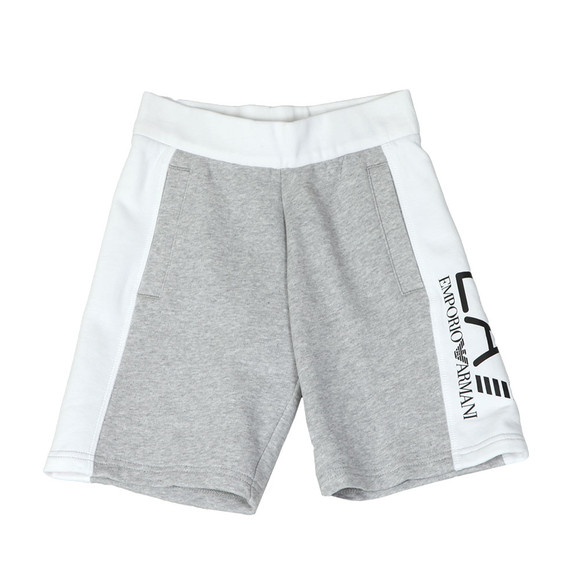 EA7 Emporio Armani Boys Grey Side Logo Sweashorts main image