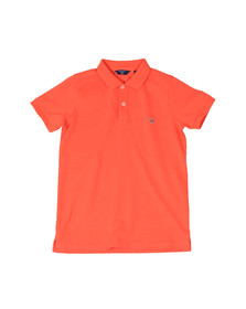 Gant Boys Orange Original Pique Polo Shirt
