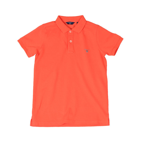Gant Boys Orange Original Pique Polo Shirt main image